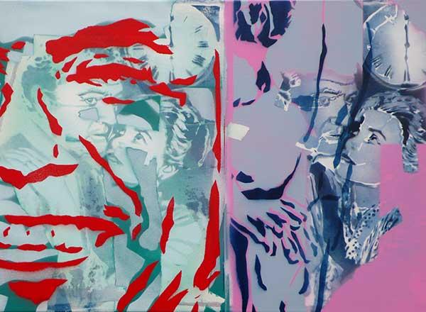 Hans Glaser, Alternierend, Stencilkunst, 2014, 40 x 60 cm